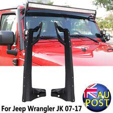 "52"" Straight LED Light Bar Windshield Mount Brackets For 07-17 Jeep Wrangler JK"