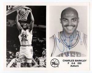 Charles Barkley - NBA Hall of Fame, Philadelphia 76ers - Autographed 8x10 Photo