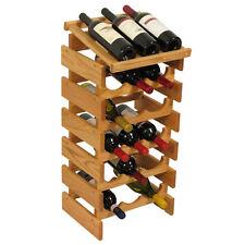 Wooden Mallet 18 Bottle Dakota Wine Rack w/Display Top WRD35LO Wine Rack NEW