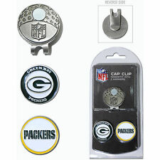 NFL Green Bay Packers Golf Cap Clip and 2 Ball Markers Enamel Team Logo Hat