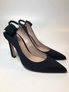 Stuart Weitzman $455 NEW 2018 Black Floral Slingback Pumps Heels Womens Size 6 M