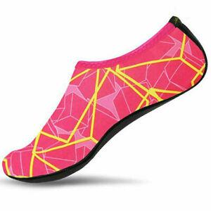 Womens Mens Water Shoes Aqua Socks Ladies Beach Swim Wetsuit Shoes Non Slip UK