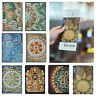 DIY Special Shaped Diamond Painting Leather Passport Protection Cover Xmas Gift