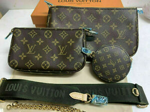 LOUIS VUITTON Multi Pochette Accessories handbags M44813 Monogram Khaki