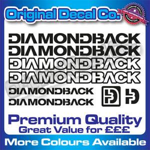 Premium Quality Diamond Back Bike Decals Stickers - bmx mountain bike frame mtb