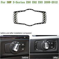 For BMW 3 Series E90/92/93 2008-2012 Carbon Fiber Car Headlight Lamp Switch Trim