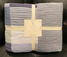Euc Pottery Barn Kids Hayden Quilt Classic Plaid Stripe Patch Full/Queen