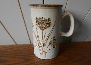 WILDFLOWERS AND BUTTERFLIES vintage coffee/tea mug DUNOON Scottish Stoneware