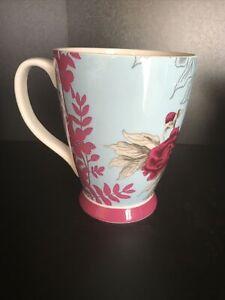 Portobello By Inspire Designed in England Bone China Cup Mug Blue Red Flower