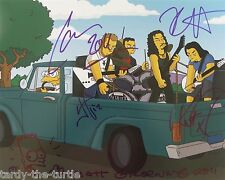 Metallica And Matt Groening 8 x 10 Autograph Reprint The Simpsons