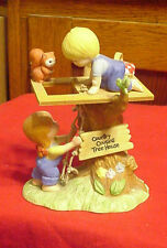 Enesco Country Cousins Katie and Scooter Playing in Tree House