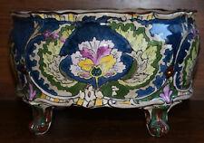 Royal Bonn Old Dutch Art Nouveau antique Jardiniere Planter cobalt blue c1910