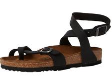 Birkenstock YARA sandal BLACK Oiled Waxy LEATHER Normal fit US 6 EU 37
