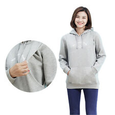 Long Sleeve Winter Maternity Clothes Breastfeeding Nursing Tops With Hoodies