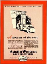 1929 Austin Western Road Machinery 1 pg. 2 Sided Ad: