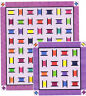 CLEARANCE  - Busy Bobbins - colourful pieced quilt PATTERN - 2 sizes