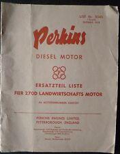 Perkins 4.270 Dieselmotor Ersatzteilliste (Claas)