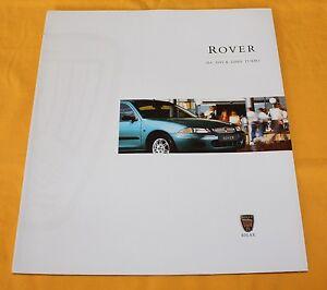 Rover 214 & 220 DS Turbo 1997 (GB) Prospekt Brochure Depliant Catalogue