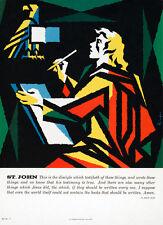 "20x30"" CANVAS Decor.Room art print.Travel shop.St.John writings.Jesus.6050"