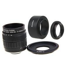 Fujian 35mm F1.7 CCTV cine lens +C Mount +Hood to SONY E Mount A6500 A6300 A6000