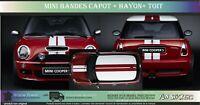 Mini Cooper One Autocollant -Bandes Toit + Capot + hayon  S R50 R56 F56 JCW 1.6