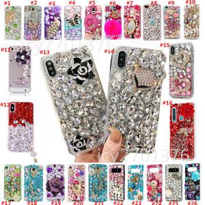 3D Bling Diamonds Crystals soft Phone Cover case for Samsung J3 J4 J5 J6 J7 2018