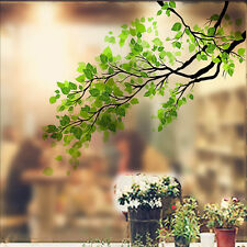 Removable Green Leaf Window Decal Wall Glass Sticker Vinyl Art Home DIY Decor