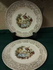Triumph American Limoges Vintage 22 K Gold Dinner Plates Set of Two
