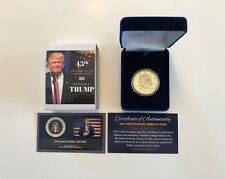 President Donald Trump....24K Gold Overlay...2016 Commemorative Coin.. in a Case