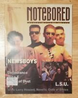 NOTEBORED MAGAZINE SEP-OCT 1992 - NEWSBOYS / DELIVERANCE / L.S.U. / NOVELLA
