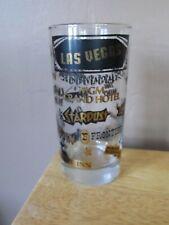 "Vintage LAS VEGAS Casino/Hotel 5.5"" Glass Tumbler~Black & Gold~Stardust/Dunes"