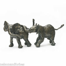 Bronze Elephant Sculpture Playing Elephants by Jonathan Sanders -Nelson & Forbes