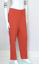 ETRO coral pale orange zip button trousers pants IT48 UK16 UK12 FR44