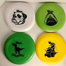 Lot 4 Frisbee Golf Disc Pirate Ship, Bulldog, Shark, Dinosaur New Game Summer