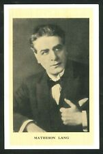 Postcard - Advertising - Matheson Lang (Actor) - Prince of Wales Theatre B'ham