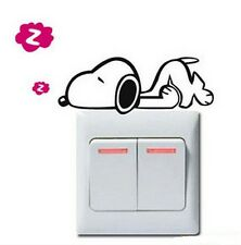 FD840 Cartoon Dog Style Light Switch Funny Wall Decal Vinyl Stickers DIY ~1pc~g