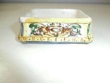 Raro Antico contenitore ceramica maiolica dipinta Marcata
