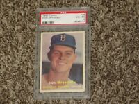 Don Drysdale RC 1957 Topps PSA 4 Rookie Card # 18 Hall of Fame LA Dodgers HOF