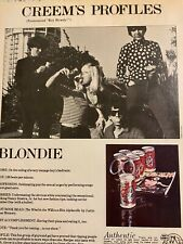 Blondie, Debbie Harry, Full Page Vintage Clipping