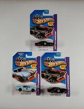 3) Hot Wheels 2013 HW Performance #250 70 Chevy Chevelle SS 1-GULF Blue & black