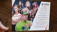 2018 WWE PROMO CARD JOHN CENA DWAYNE ROCK JOHNSON RHONDA ROUSEY BANKS AJ STYLES