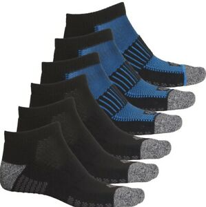 Men's Columbia Multisport Socks Below The Ankle 6 Pair Size L  Black/Blue/Gray