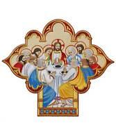 """Gestickte liturgische Applikation """"Abendmahl Jesu"""" Kasel Messgewand AP4053920"""