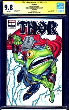 Thor #1 BLANK CGC SS 9.8 signed THROG SKETCH by Steve Kurth & Lydic COLORS FROG