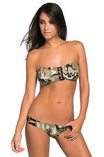 Costume Da Bagno Camouflage Stampato Fascia Lacci Bikini Swimwear Swimsuit S