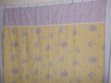 EXCELL HOME FASHIONS VINTAGE LOOK YELLOW FLORAL SHOWER CURTAIN