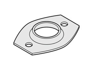 Fence Fitting Pipe Flange Oval Round Pipe