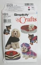 New listing Uncut Dog Clothes & Bed Sewing Pattern ~ Simplicity Crafts 8928 Size A