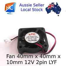 Case Fan 12V 40mm x 40mm x 10mm Brushless PC Fan cooler 2 pin - Aussie Seller
