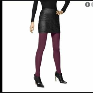 HUE super opaque smooth control top women's tights -Deep Burgundy - Size 3
